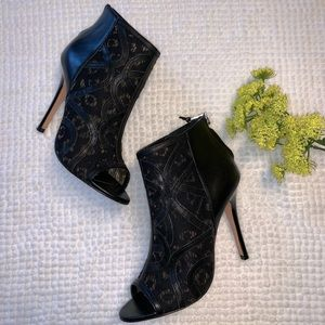 Rebecca Minkoff Lace Peep-toe Ankle Boots